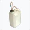 Канистра пластиковая с герметичной крышкой и распылителем